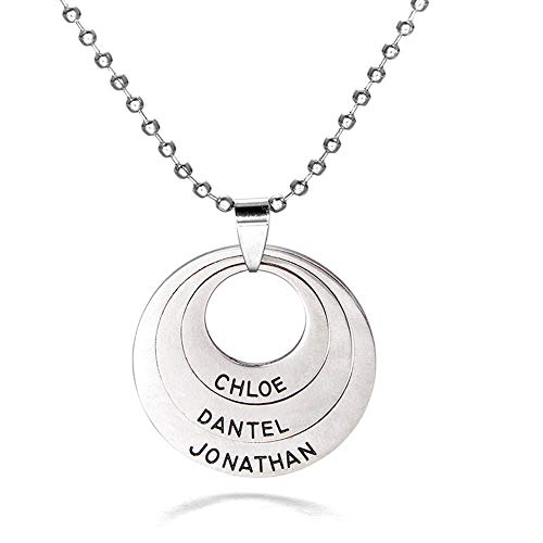 Jewelry Clearance Deals!Fashion Women Round Letters Pendant Necklace Chain Jewelry Accessories Gifts - Silver,Colour:Silver (Color : Silver)