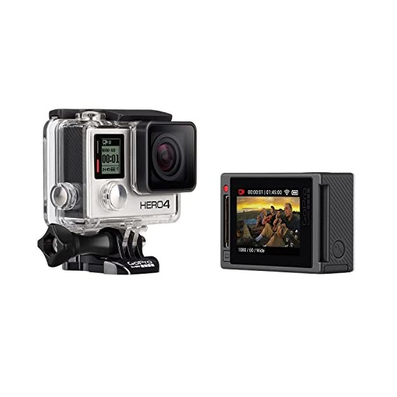 GoPro Hero 4 Silver Edition 12MP Waterproof Sports & Action Camera Bundle with 2 Batteries 7 Built-in touch display for easy camera control, shot-framing and playback,Protune with SuperView delivers cinema-quality capture and advanced manual control for photos and video with the world's most immersive wide-angle field of view Professional 1080p60 and 720p120 video with 12MP photos at up to 30 frames per second. Video Supported: 4K15 / 2.7K30 / 1440p48 / 1080p60 / 960p100 / 720p120 fps Built-in Wi-Fi and Bluetooth support the GoPro App, Smart Remote and more