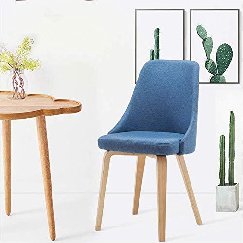 ZJN-JN Silla Comer el Desayuno taburetes Modernas sillas de Madera del pie Simple Silla de Comedor Silla de café Discusión Silla del Ocio cómodo (Color: Azul, Tamaño: 45x41x83cm)