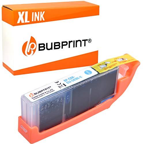 Bubprint Druckerpatrone kompatibel für Canon CLI-581C XL CLI581 CLI 581 für Pixma TS6150 TS6151 TS8150 TS8151 TS8152 TS9150 TS9155 TR7550 TR8550 Cyan