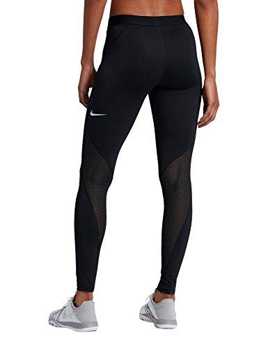 Nike Damen Pro Hypercool Tights, Black/Pure Platinum, XL