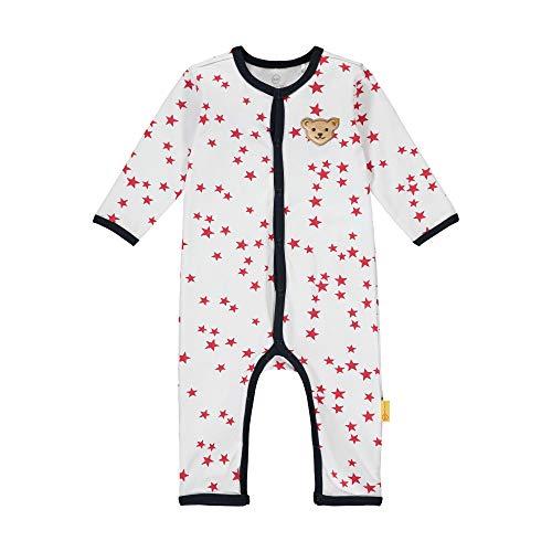 Steiff Baby-Mädchen mit süßer Teddybärapplikation Strampler, Weiß (Bright White 1000), 068