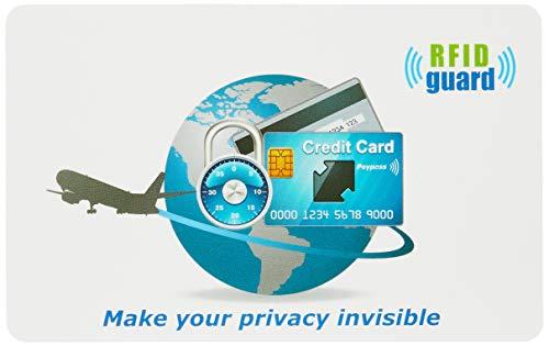 セット 海外旅行用品にスキミング防止 ICパスポートカバー 皮革模様 (ルビーレッド)+スキミング防止カード1枚