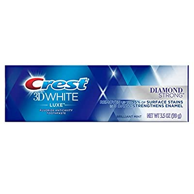 Crest 3D White Luxe Glamorous White Teeth Whitening Vibrant Mint Toothpaste