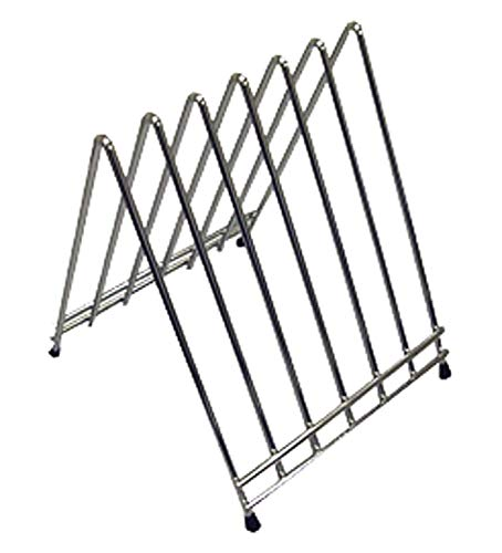 Winco CB-6L 6-Slot Cutting Board Rack, Chrome Plated (2-Pack)