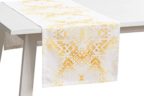 Pichler Tischwäsche Serie 'Bazar', strohgelb, Größe:Mitteldecke 95 x 95 cm