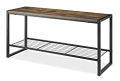 Keeps shoes, purses, backpacks, and other on-the-go items neatly contained Constructed of high-quality materials to deliver an industrial look that is also suitable for sitting The engineered wood top that can hold up to 250 lbs. Assembled Dimensions...