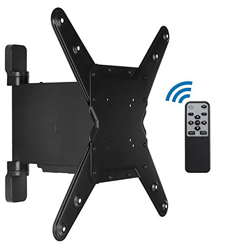 "Mount-It! Motorized TV Wall Mount Bracket with Full Motion Swing Out and Swivel Articulating Arm for 32-55"" Flat Screen Displays with VESA 75 to 400, 77 Lbs with 12"" Extension"