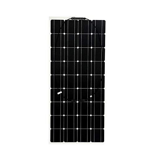 GNY Cargador Solar Panel Solar Flexible 100W 18V Cargador de batería Célula Solar portátil 5V USB para teléfono Caravana Caravana al Aire Libre Impermeable (Color : As Shown)