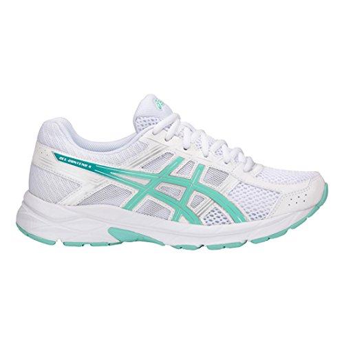 Asics Gel-Contend 4 - Zapatillas de correr para hombre, Blanco (Blanco/Azul/Plateado), 43 EU