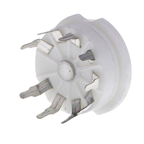 MagiDeal 9 Pin Silber Keramik Röhrensockel Tube Sockel für 12AX7 / 12AU7 / 12AT7 / ECC83 / E88CC / EL84 / 6922 / 6P2 / 6P14 / 6N1 / 6N11 und andere 9-polige Röhren Audio röhrenverstärkern