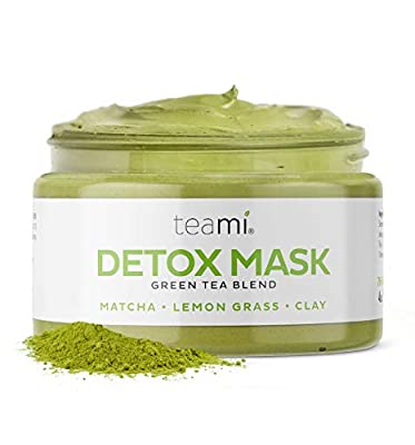 Teami Detox Face Masks Skincare Facial Skin Care Products: Green Tea Detox Mask Deep Cleansing Pore Minimizer & Blackhead Remover Mud Mask with Bentonite Clay - Spa Day Exfoilate & Acne Care from Teami Blends