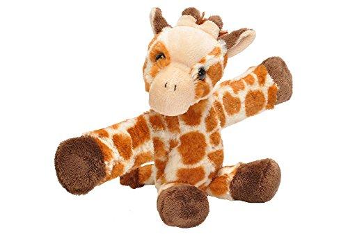 Wild Republic Huggers Schnapparmband Kuscheltier, Plüschtier, Giraffe 20 cm