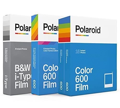 Polaroid 600 Filme 600 Farben, Schwarz-Weiß-Film, Farbrahmen-Film (32 Fotos) (6183)