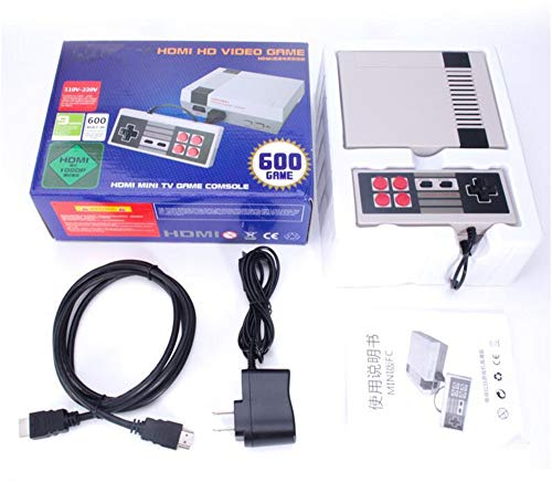 Video Games Console, Family Handheld NES Console Built-in 600 Game Player with 2 Button Controllers