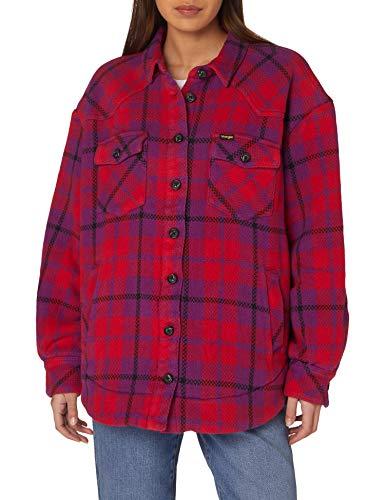 Wrangler Western Shirt Jacket Camicia, Viola-Ultraviolet, L Donna