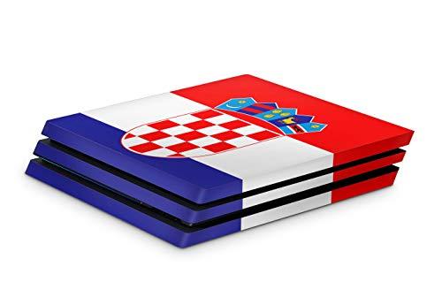 Skins4u Aufkleber Design Schutzfolie Vinyl Skin kompatibel mit Sony PS4 Playstation 4 Pro kroatien
