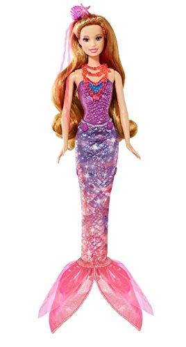 Mattel Barbie BLP25 - Barbie und die geheime Tür - Magische Meerjungfrau mit Funktion, Puppe