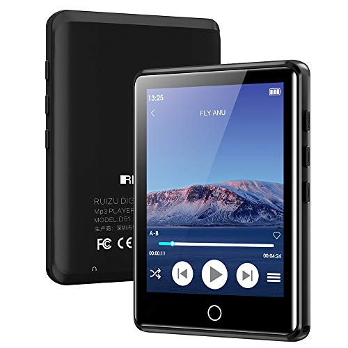 """MP3 Player with Bluetooth 5.0, 2.8"""" Full Touchscreen 16GB Mp3 Player, HiFi Lossless Sound Music Player with Headphones, Built-in Speaker, FM Radio, Voice Recorder, E-Book, Expandable up to 128GB"""