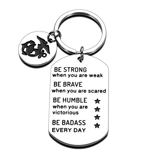 Marine Corps Gifts Graduation Keychain Gifts for Women Men Be Strong When You are Weak Encouragement Gifts for Him Her Boys Girls Inspirational Gifts for Family Friends Daughter Son Birthday Christmas