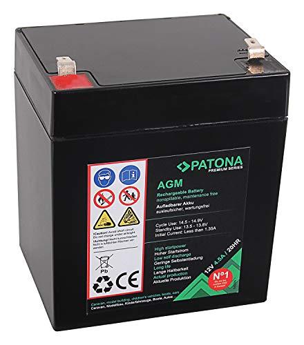 PATONA Premium AGM 12V 4.5Ah Blei Batterie VRLA Wartungsfrei 1800 Zyklen (YB4L-B usw.)