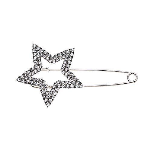 Treend24 dames spelden broche ster strass zilver vintage voor cardigan sjaals kleding broche poncho clips textiel sieraden Love naaldbroche steeknaald