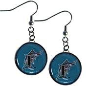 Officially licensed MLB product 3/4 inch round charm Hypoallergenic fish hook posts Chrome backed earrings Perfect gift idea