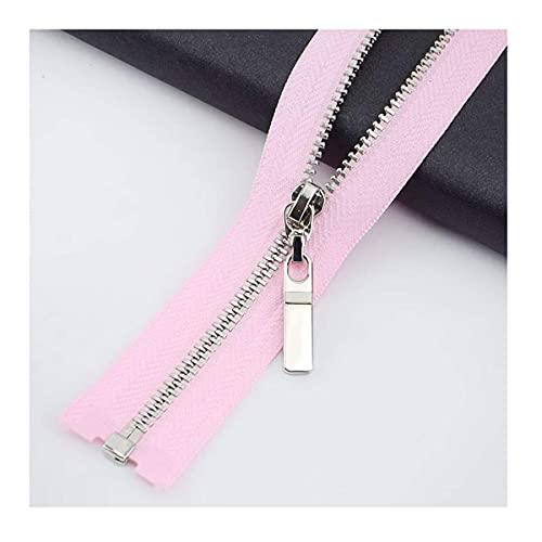 Nylon bobina cremalleras chaqueta cremalleras, cremallera gruesa, 2pcs 3 # Zipper de metal 40 cm / 70 cm de extremo abierto Cerradura automática Zip for bolsa de costura Chaqueta Jeans Falda Accesorio