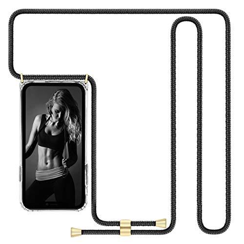 Imikoko Handykette Hülle für iPhone XR Necklace Hülle mit Kordel zum Umhängen Silikon Handy Schutzhülle mit Band - Hülle für iPhone XR transparent Schnur mit Hülle zum umhängen(150cm)