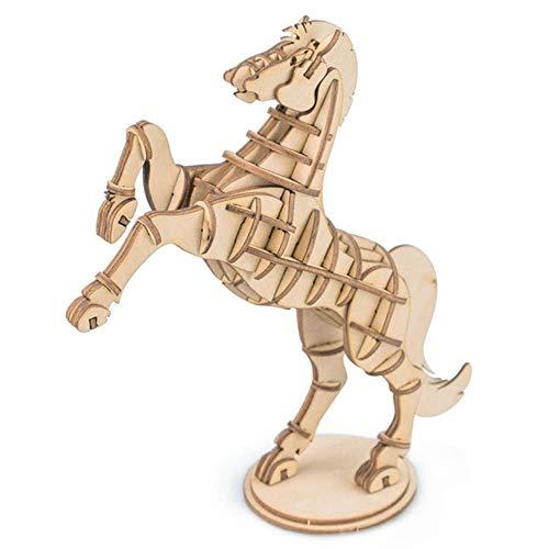 3D HoutenPuzzel Montage Speelgoed Modelbouwsets, Paard