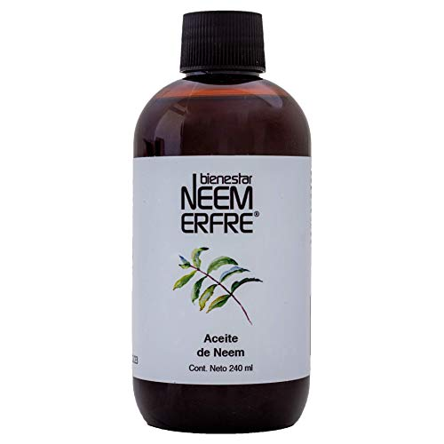 Aceite de NEEM Orgánico 100% puro sin diluir -Refill- Azadiractina - Natural Vegano Biodegradable- 240 ml 8.11 fl. oz- Bienestar Neem Erfre