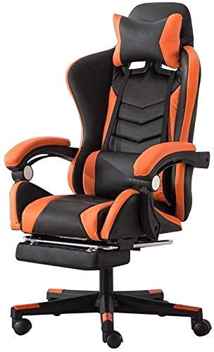 WSDSX Office Chairs Computer Chair High Back Racing Chair with Massage Function Ergonomic Office Desk Chair Height Adjustable Racing Gaming Chair with Headrest and Lumbar Support (Color