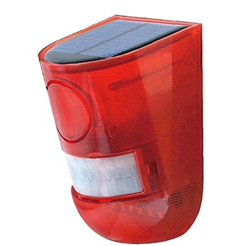 FeelMeet Sirena de Alarma de luz estroboscópica Loud Buen Sistema de Seguridad del Sensor de Movimiento 129dB 6 LED para el hogar al Aire Libre Villa Corral