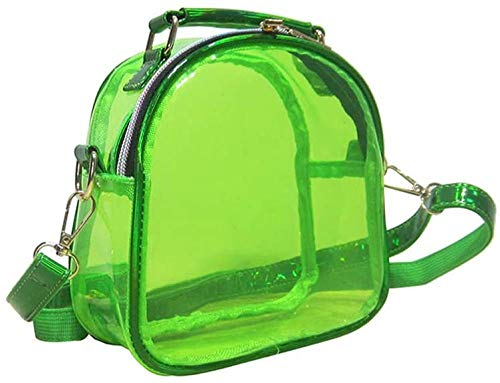 ZSW Mujeres niñas Bandolera Transparente Bolso de Hombro Jalea Color Caramelo Mini Bolsos-Verde