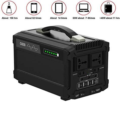 500W draagbare omvormer generator multifunctionele energieopslag stroomvoorziening UPS batterij opladen van voeding, kamperen, generator energieopslag,110v