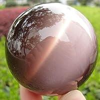 水晶球 40mmレアナチュラルクォーツパープルキャットアイクリスタルヒーリングボール球オフィスの家の装飾 クリアクリスタルボール (Color : Purple)