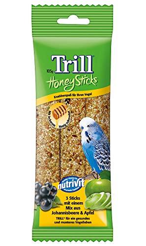 Trill Vogelfutter Honig Sticks mit Johannisbeere und Apfel, 12 Packungen (12 x 105 g)