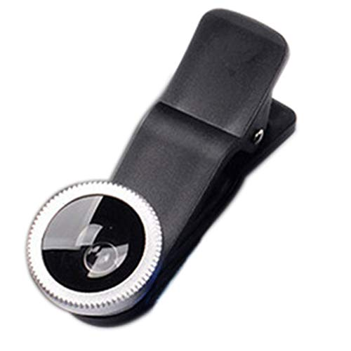 rongweiwang 3-in-1 Universal-Handy-Kamera Clip-on Fischauge-Objektiv Lens Kit 180 ° Fischaugen-Objektiv 0.67X Weitwinkelmakroobjektiv