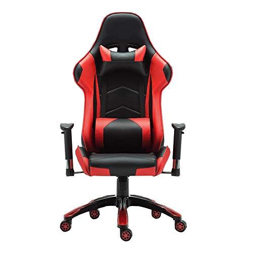 WYYY silla de Oficina Silla De Oficina, Silla Deportiva De Carreras Función De Inclinación Silla Giratoria Base De Nylon De Cinco Estrellas Durable Fuerte (Color : Rojo)