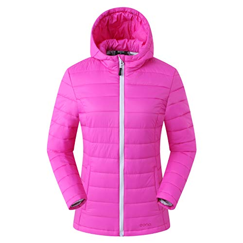 Amazon Marke: Eono Essentials Damen Thermo-Steppjacke, Pink, S