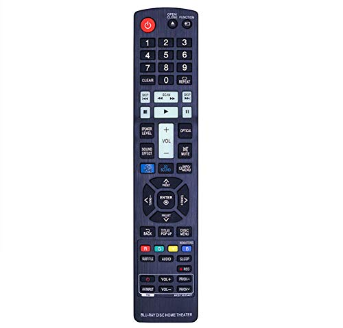 Pehtini New AKB73635401 Replaced Remote fit for LG 3D Blu-ray DVD Home Cinema BH9540TW BH7540TW BH7240B BH7440P BH7540T S94T1-S S94T1-C S94T1-W T2W4-4 BH7220B BH7420P BH7520T