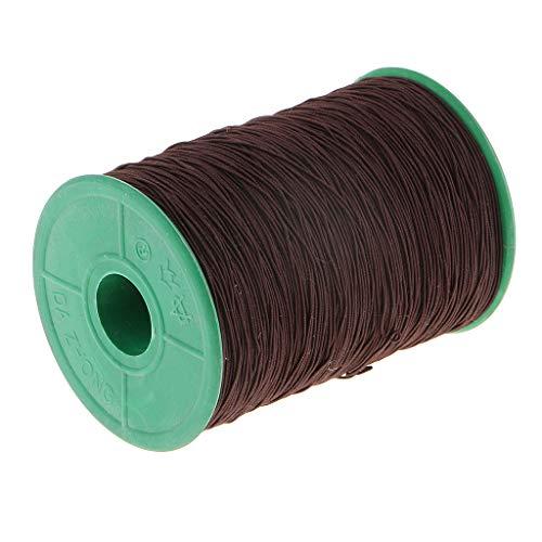 chiwanji Elástico Elástico Rebordear Hilo Cordón Pulsera Cadena para La Fabricación de Joyas DIY - Marron Oscuro, Individual