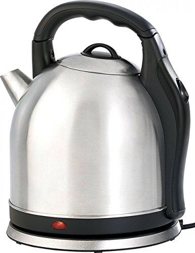 Rosenstein & Söhne Wasserkessel: XXL-Edelstahl-Wasserkocher WSK-200.mx, 3,8 Liter (Elektrische Wasserkocher Edelstahl)