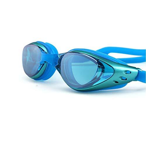 Cfilet Gafas De Natación Impermeable Anti-Niebla Arena Swim Gafas De Agua De Silicona Grandes Gafas De Buceo, For Mujeres De Los Hombres (Color : C)
