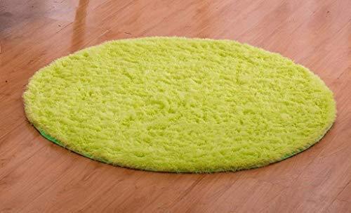 carpet Lavable Vide Durable Tapis Simple Ronde Chambre Lit Table Basse Salon Salon Couleur Épaississement Chaise Ordinateur Tapis Tufté Maison Daily Tapis,Diamètre 100cm,# 8