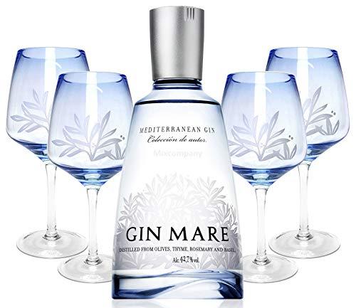 Gin Mare Mediterranean Gin 1,75L (42,7% Vol) + 4x Ballon Gläser