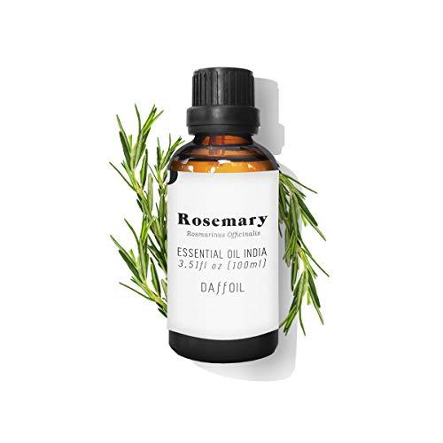 Daffoil Aceite esencial romero puro, BIO natural ecológico aromaterapia humidificador - 100 ml