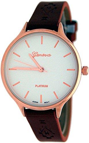 Geneva #10028 Women's Fashion Watch with Patten Design -  G10028-57