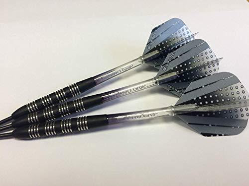 Tungsten Dart Sets Wolframcarbid Schwarz Nodor Darts Set, Target Vision schwarz Pro Grip Stems & Vision Pro Sport Flights–24G oder 26g erhältlich