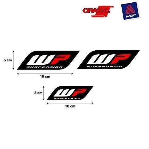 Aufkleber Aufkleber Aufkleber Aufkleber Aufkleber Autocollants Kompatibel mit Wp Aufhängung Gabel Auto und Motorrad Print Digital 3 Einheiten REF1